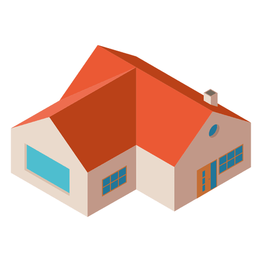 dc1ccf636ee9507ca3b3756564be4660-isometric-flat-house-building-by-vexels